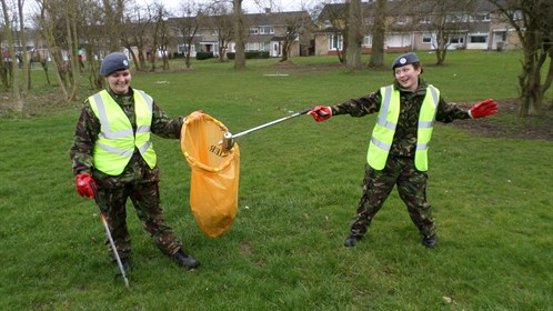 Corby Air Cadets clean up