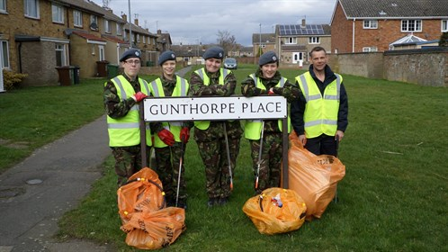 Corby Air Cadet tidy up their town
