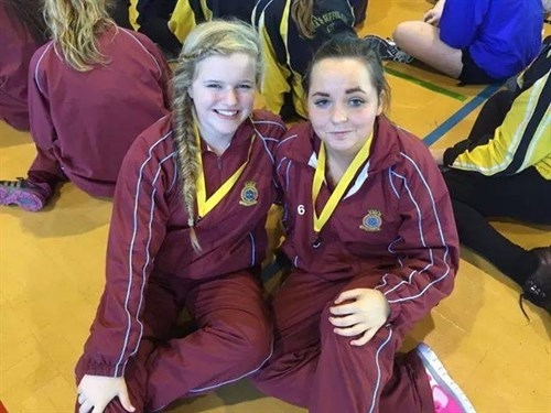 Netball Silver Medal Winners Cdt Bell And Cdt Pavitt