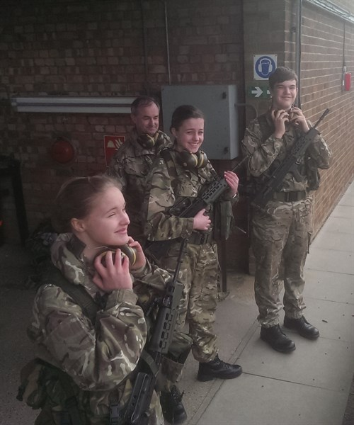 Corby Air Cadets on the range