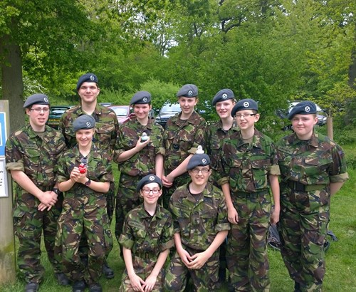 Corby Air Cadets Sponsored Walk Team