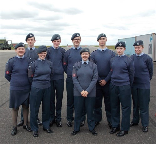 Corby Air Cadets Banner and Band Team 2015