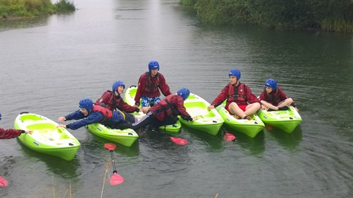 Cadets Swapping Kayaks