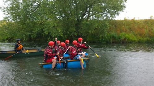 Cadets Take To The Water On Their Raft