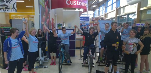 Corby Air Cadets celebrate after completing their bike challenge