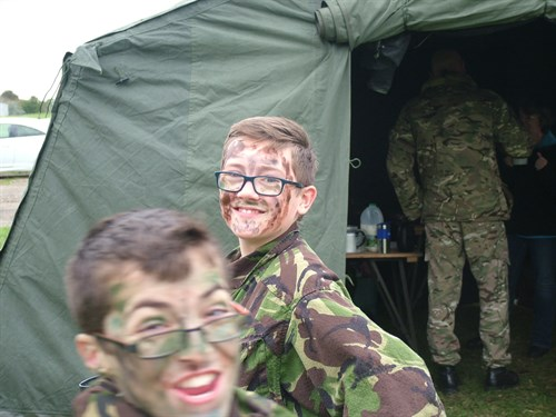 Camouflage and Concealment training for Corby Air Cadets