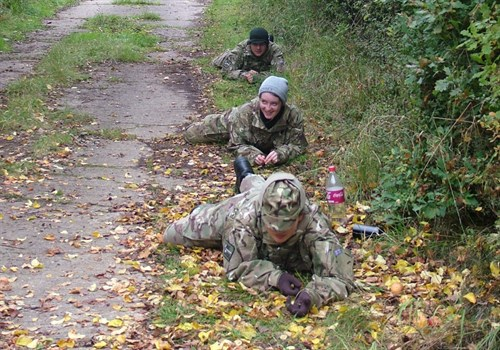 Corby Air Cadets learning fieldcraft skills
