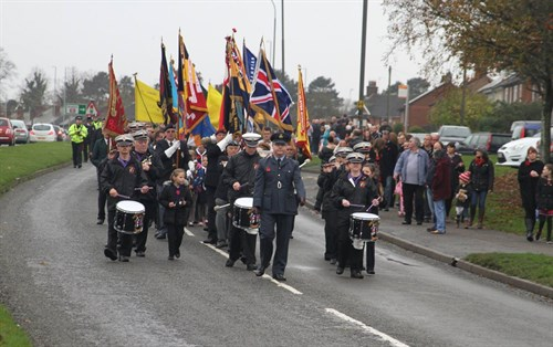Remembrance Parade led by Flight Lieutenant Kev Ritchie RAFVR(T)