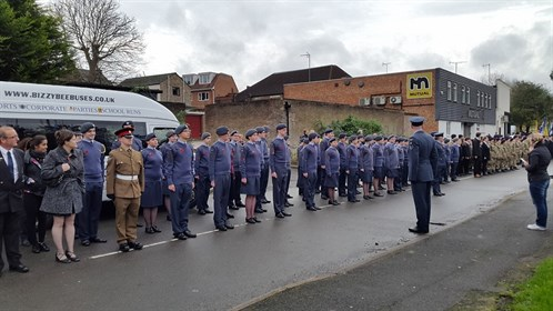 Corby Air Cadets final parade Remembrance Sunday 2015