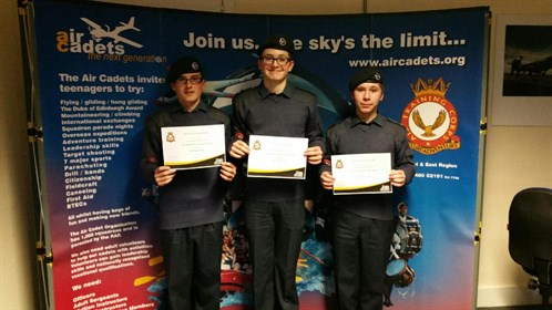 Corby Air Cadets complete the Pre-Gliding Scholarship Course