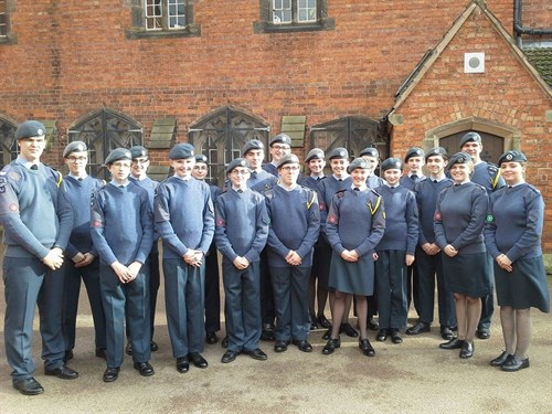 Corby Air Cadets Cross Country Team 2016 place 6th overall