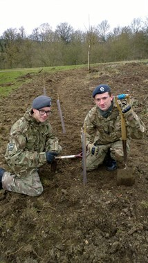 Corby Air Cadets at the 75th Anniversary tree planting project