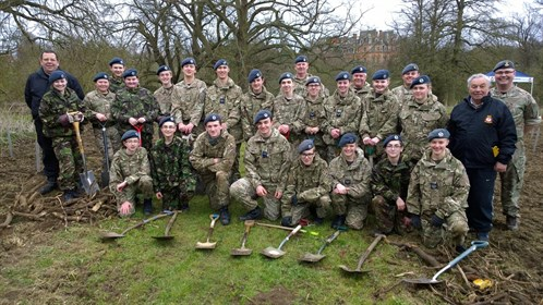 Corby Air Cadets 75th Anniversary Tree Planting Team