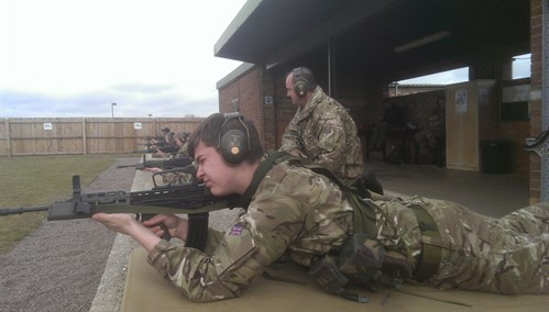 Shooting with Corby Air Cadets