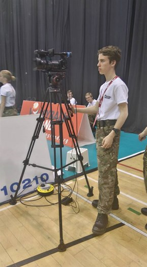 Corby Air Cadets filming at the Super 8's Playoff Finals 2016