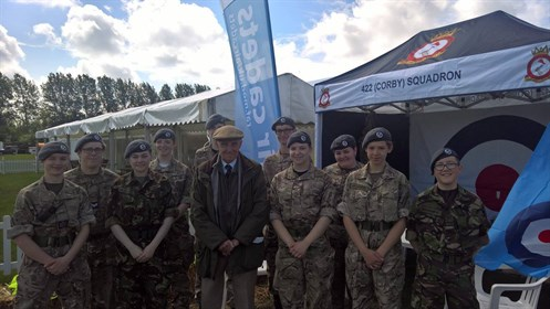 Corby Air Cadets With Air Commodore JM Stevenson CBE