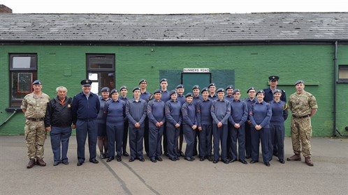 Corby Air Cadets pictured with QCS
