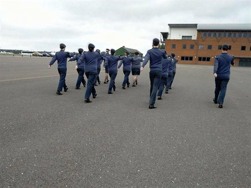 Sqn Practice on the QCS parade square