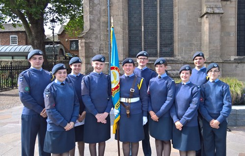 Corby Air Cadets at South and East Midlands Wing 75th Anniversary Parade