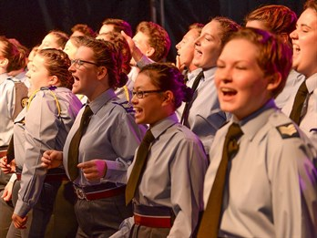 FS Mabbutt singing with the ACO Choir