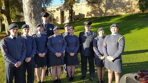 Corby Air Cadets attend 75th Anniversary Lincoln Parade