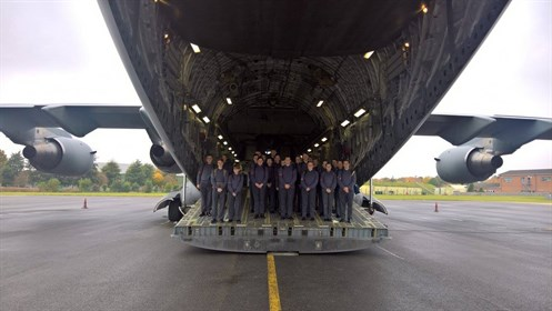 Corby Air Cadets On The Back Of A C17