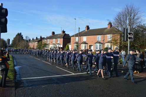 Corby Air Cadet On Parade for Remembrance 2016