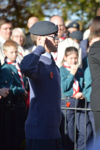 Cdt Joseph Curry laying the Squadron Wreath