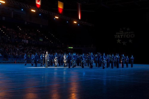 Corby Air Cadet performing at the Birmingham Tattoo