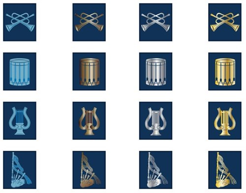 Some of the new PTS Music Badges