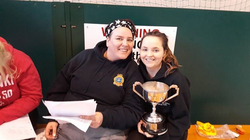 FS ATC Coles And FS Pavitt With The Netball Trophy